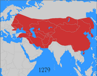 Genghis Khan Map of Empire