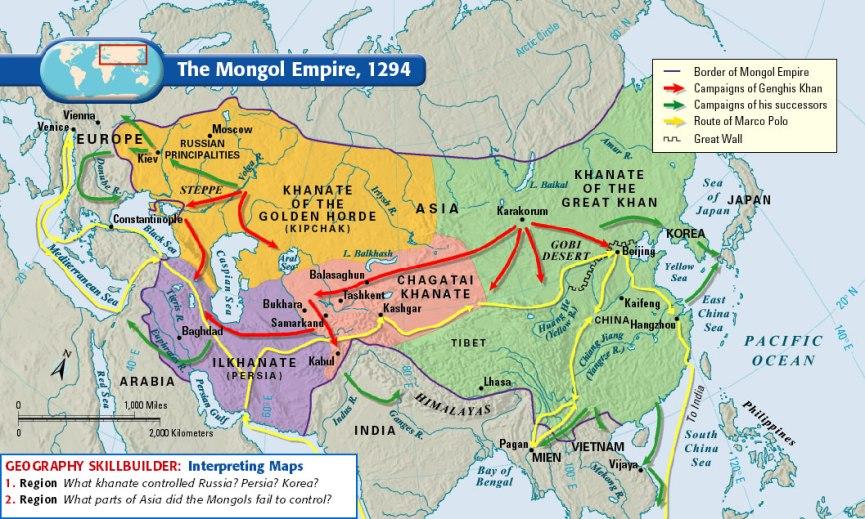 Genghis Khan-Map