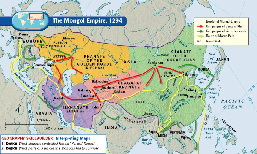 Genghis Khan-Map