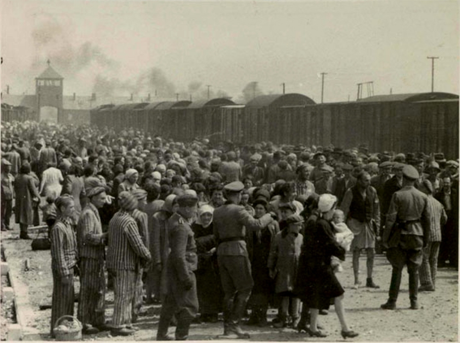 Night-Jews arrive at Auschwitz-II