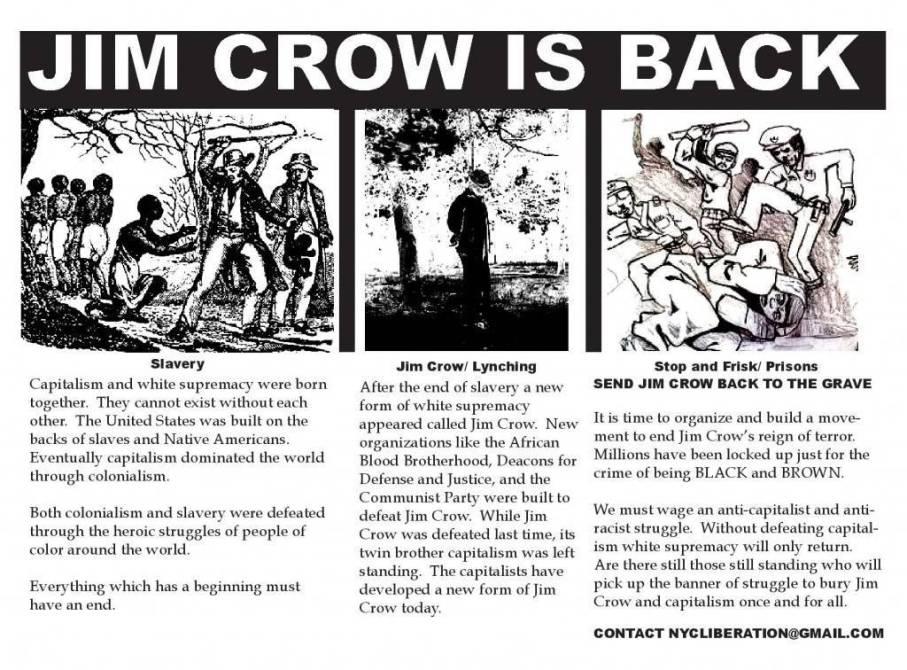New Jim Crow-Jim Crow is Back