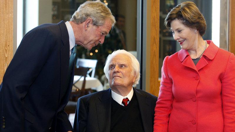 Evangelicals Bush and Graham