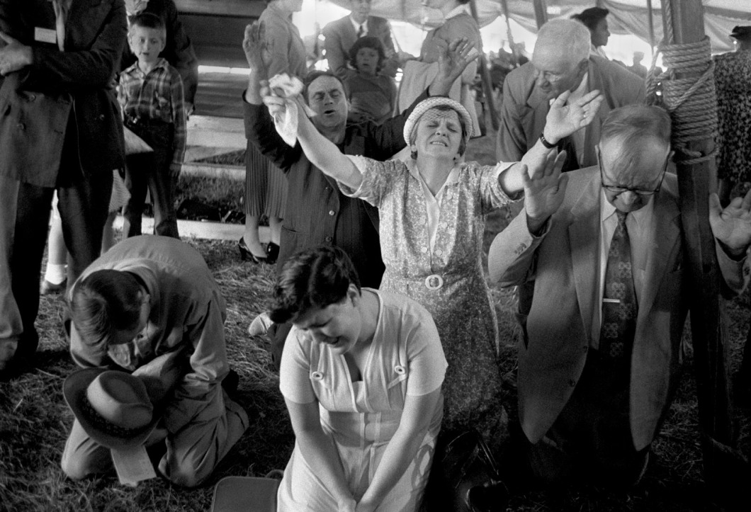 A healing session led by the evangelist Oral Roberts, Minneapolis, Minnesota, 1960