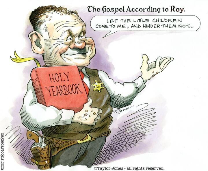 Evangelicals Roy Moore Cartoon